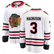 Fanatics Branded Chicago Blackhawks 3 Keith Magnuson White Breakaway Away Youth NHL Jersey