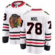 Fanatics Branded Chicago Blackhawks 78 Nathan Noel White Breakaway Away Youth NHL Jersey