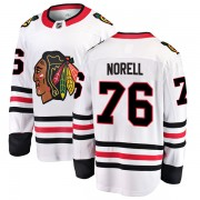 Fanatics Branded Chicago Blackhawks 76 Robin Norell White Breakaway Away Youth NHL Jersey