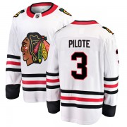 Fanatics Branded Chicago Blackhawks 3 Pierre Pilote White Breakaway Away Youth NHL Jersey