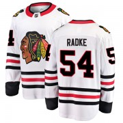 Fanatics Branded Chicago Blackhawks 54 Roy Radke White Breakaway Away Youth NHL Jersey