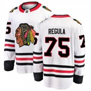 Fanatics Branded Chicago Blackhawks 75 Alec Regula White ized Breakaway Away Youth NHL Jersey