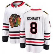 Fanatics Branded Chicago Blackhawks 8 Nick Schmaltz White Breakaway Away Youth NHL Jersey