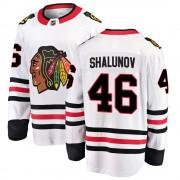 Fanatics Branded Chicago Blackhawks 46 Maxim Shalunov White Breakaway Away Youth NHL Jersey