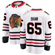 Fanatics Branded Chicago Blackhawks 65 Andrew Shaw White Breakaway Away Youth NHL Jersey