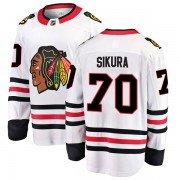 Fanatics Branded Chicago Blackhawks 70 Tyler Sikura White Breakaway Away Youth NHL Jersey