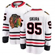 Fanatics Branded Chicago Blackhawks 95 Dylan Sikura White Breakaway Away Youth NHL Jersey