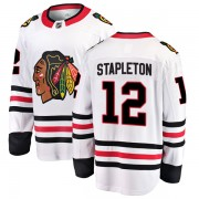 Fanatics Branded Chicago Blackhawks 12 Pat Stapleton White Breakaway Away Youth NHL Jersey