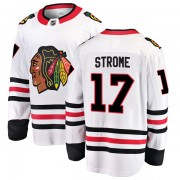 Fanatics Branded Chicago Blackhawks 17 Dylan Strome White Breakaway Away Youth NHL Jersey