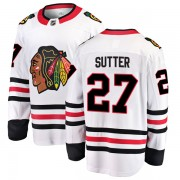 Fanatics Branded Chicago Blackhawks 27 Darryl Sutter White Breakaway Away Youth NHL Jersey