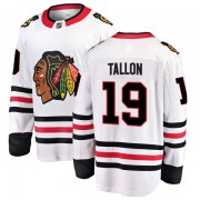 Fanatics Branded Chicago Blackhawks 19 Dale Tallon White Breakaway Away Youth NHL Jersey