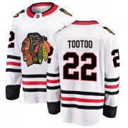 Fanatics Branded Chicago Blackhawks 22 Jordin Tootoo White Breakaway Away Youth NHL Jersey