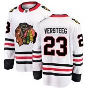 Fanatics Branded Chicago Blackhawks 23 Kris Versteeg White Breakaway Away Youth NHL Jersey