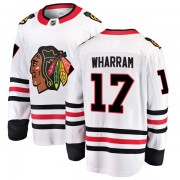 Fanatics Branded Chicago Blackhawks 17 Kenny Wharram White Breakaway Away Youth NHL Jersey