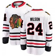 Fanatics Branded Chicago Blackhawks 24 Doug Wilson White Breakaway Away Youth NHL Jersey