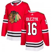 Adidas Chicago Blackhawks 16 Ed Olczyk Authentic Red Home Youth NHL Jersey