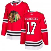 Adidas Chicago Blackhawks 17 Jordan Schroeder Authentic Red Home Youth NHL Jersey