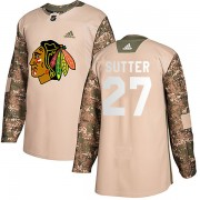 Adidas Chicago Blackhawks 27 Darryl Sutter Authentic Camo Veterans Day Practice Men's NHL Jersey