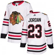 Adidas Chicago Blackhawks 23 Michael Jordan Authentic White Men's NHL Jersey
