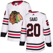 Adidas Chicago Blackhawks 20 Brandon Saad Authentic White Away Women's NHL Jersey
