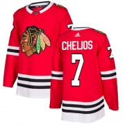 Adidas Chicago Blackhawks 7 Chris Chelios Authentic Red Home Youth NHL Jersey