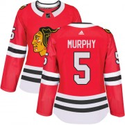 Adidas Chicago Blackhawks 5 Connor Murphy Authentic Red Home Women's NHL Jersey