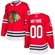 Adidas Chicago Blackhawks Custom Authentic Red Home Youth NHL Jersey