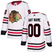 Adidas Chicago Blackhawks Custom Authentic White Away Youth NHL Jersey