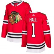 Adidas Chicago Blackhawks 1 Glenn Hall Authentic Red Home Youth NHL Jersey
