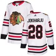Adidas Chicago Blackhawks 28 Henri Jokiharju Authentic White Away Youth NHL Jersey