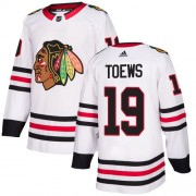 Adidas Chicago Blackhawks 19 Jonathan Toews Authentic White Away Women's NHL Jersey