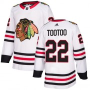 Adidas Chicago Blackhawks 22 Jordin Tootoo Authentic White Away Women's NHL Jersey