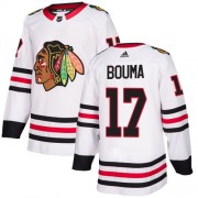 Adidas Chicago Blackhawks 17 Lance Bouma Authentic White Away Women's NHL Jersey