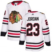 Adidas Chicago Blackhawks 23 Michael Jordan Authentic White Away Women's NHL Jersey