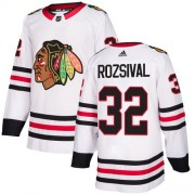 Adidas Chicago Blackhawks 32 Michal Rozsival Authentic White Away Women's NHL Jersey