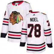 Adidas Chicago Blackhawks 78 Nathan Noel Authentic White Away Women's NHL Jersey