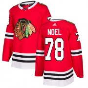 Adidas Chicago Blackhawks 78 Nathan Noel Authentic Red Home Youth NHL Jersey
