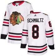 Adidas Chicago Blackhawks 8 Nick Schmaltz Authentic White Away Women's NHL Jersey