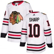 Adidas Chicago Blackhawks 10 Patrick Sharp Authentic White Away Youth NHL Jersey