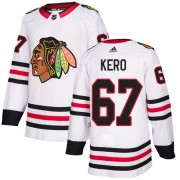 Adidas Chicago Blackhawks 67 Tanner Kero Authentic White Away Women's NHL Jersey