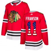 Adidas Chicago Blackhawks 11 Cody Franson Authentic Red USA Flag Fashion Youth NHL Jersey