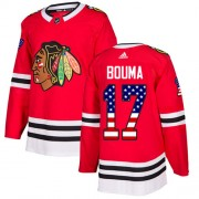 Adidas Chicago Blackhawks 17 Lance Bouma Authentic Red USA Flag Fashion Men's NHL Jersey