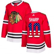 Adidas Chicago Blackhawks 10 Patrick Sharp Authentic Red USA Flag Fashion Youth NHL Jersey