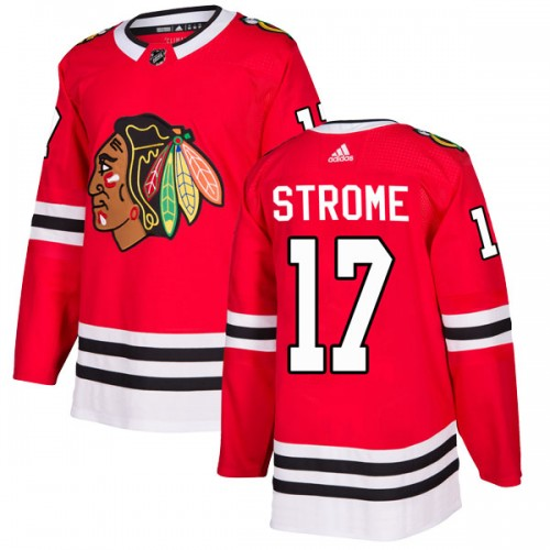 Adidas Chicago Blackhawks 17 Dylan Strome Authentic Red Home Youth NHL Jersey