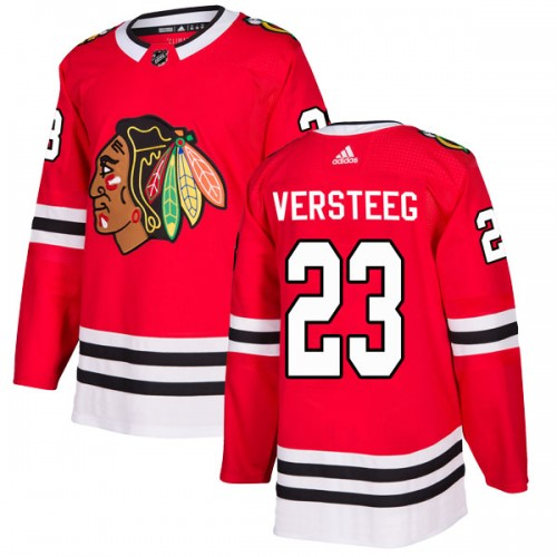 Adidas Chicago Blackhawks 23 Kris Versteeg Authentic Red Home Youth NHL Jersey