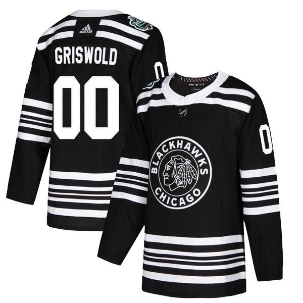 df3e31ba Adidas Chicago Blackhawks 00 Clark Griswold Authentic Black 2019 Winter  Classic Men's NHL Jersey