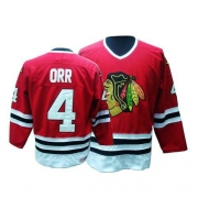 CCM Chicago Blackhawks 4 Bobby Orr Authentic Red Throwback Man NHL Jersey