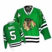 Reebok Chicago Blackhawks 5 Brent Sopel Authentic Green Man NHL Jersey