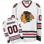 CCM Chicago Blackhawks 00 Clark Griswold White Throwback Authentic NHL Jersey