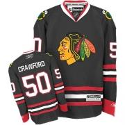 Reebok Chicago Blackhawks 50 Corey Crawford Black Premier NHL Jersey